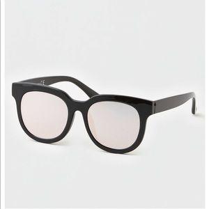 AE Black Womens Square Sunglasses NEW